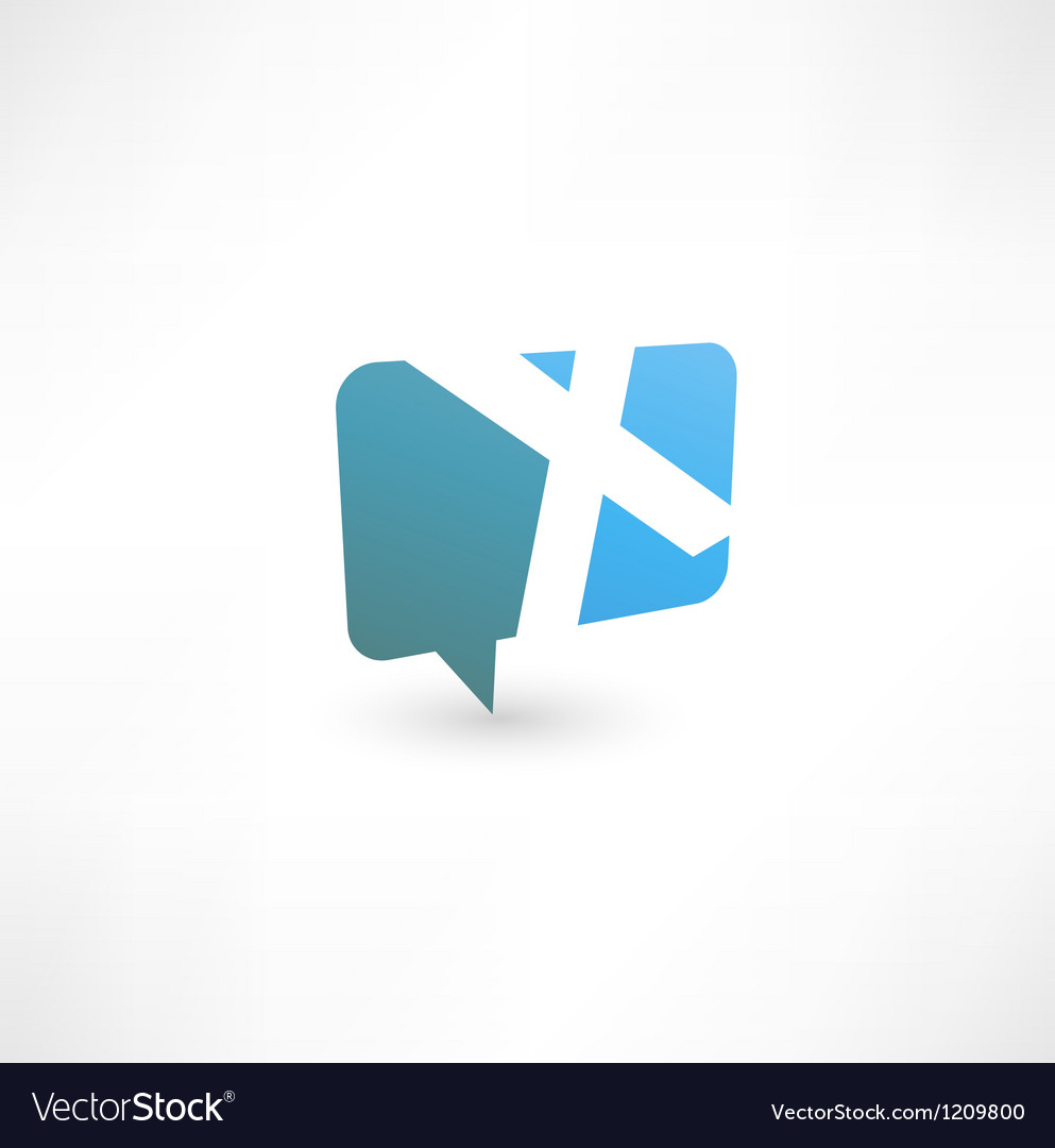 Abstract bubble icon based on the letter x vector