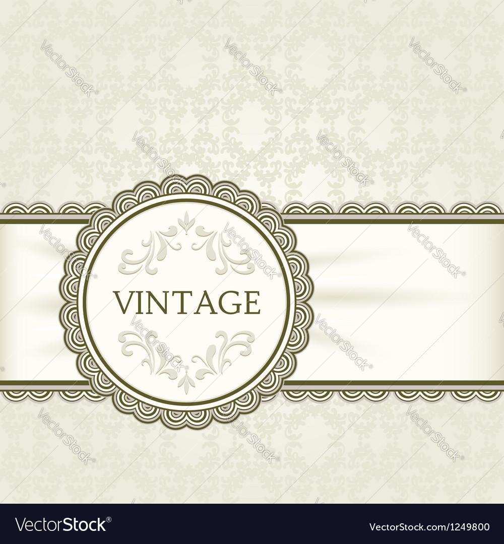Vintage background ornamental round frame vector