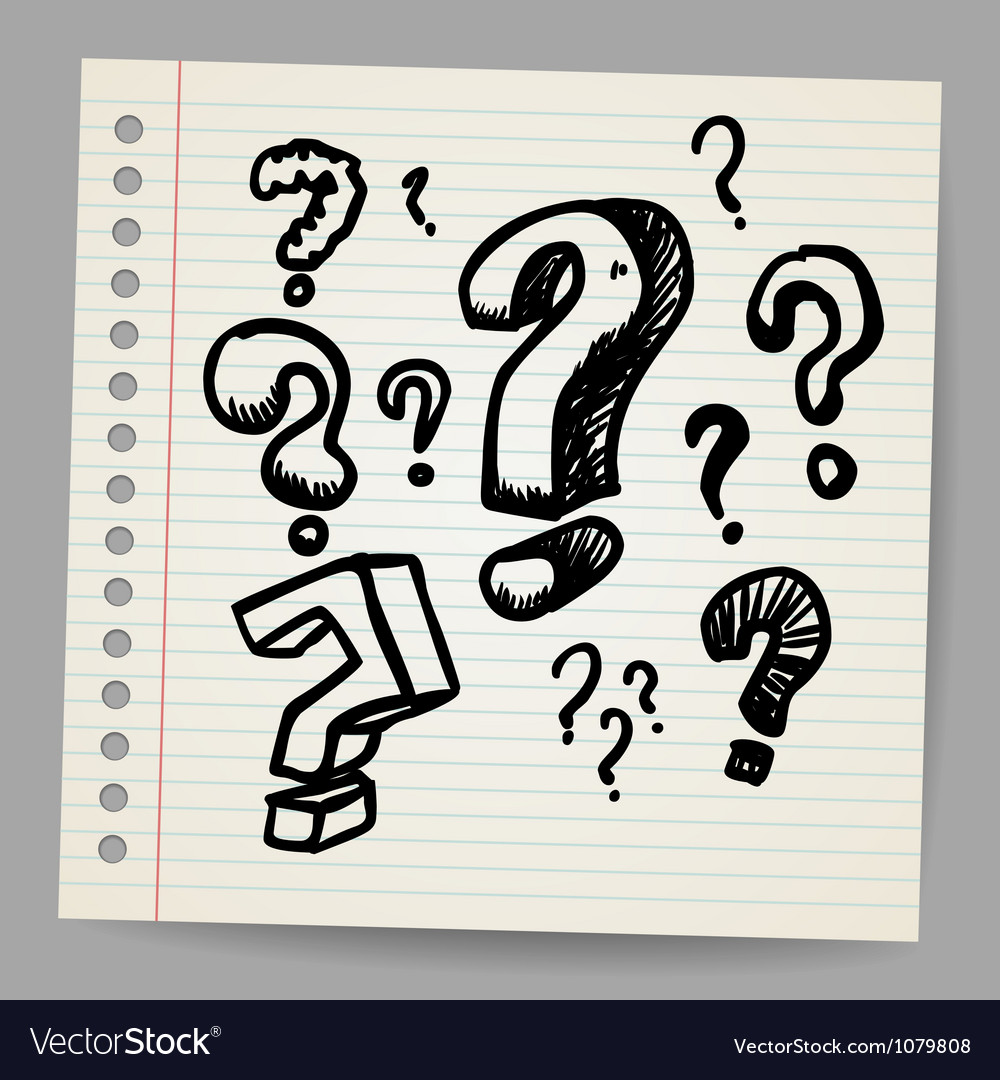 Scribble question marks vector