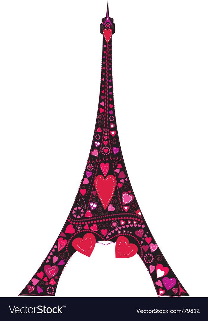 Eiffel Tower Silhouette Vector Eiffel Tower Silhouette Pink