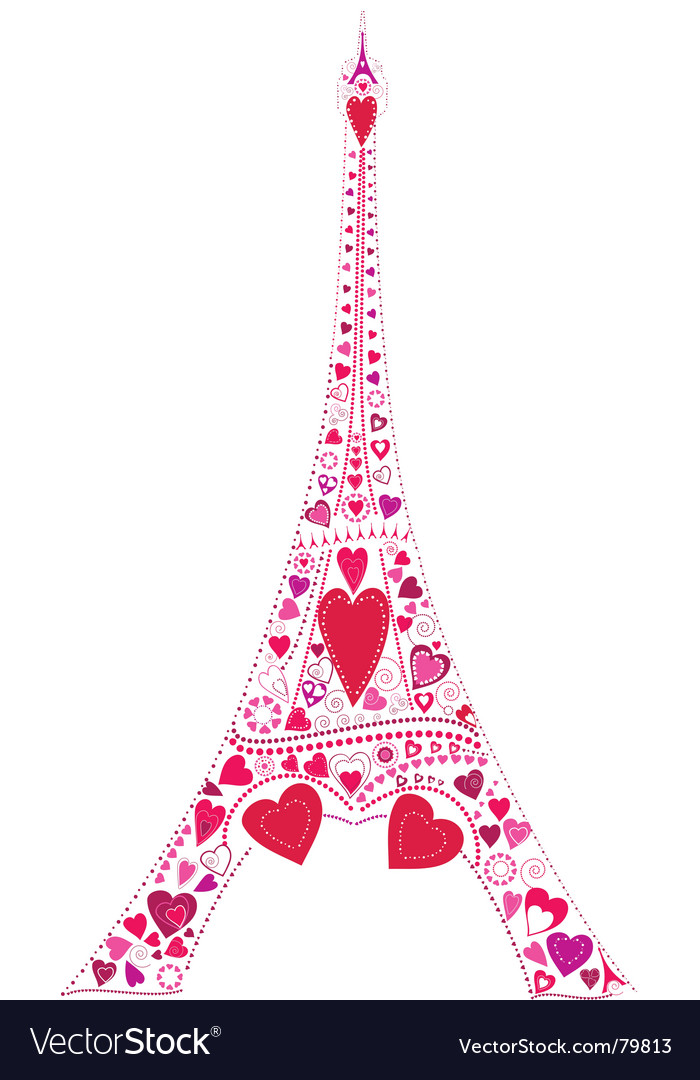 Eiffel tower love vector Eiffel Tower Silhouette Pink