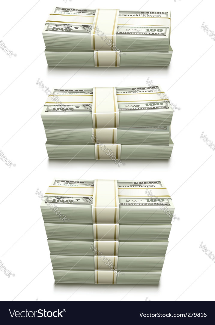 Dollar bank notes  vector