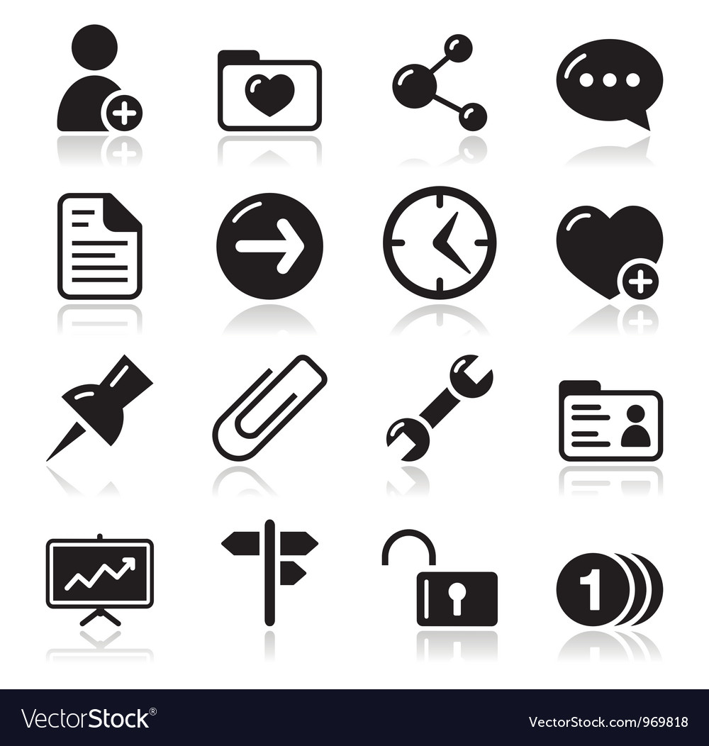 Website navigation icons set vector