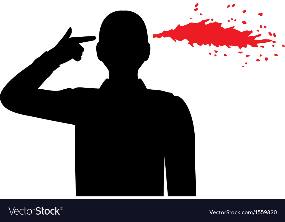 Shot in the head vector