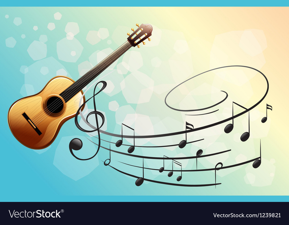 A musical instrument vector