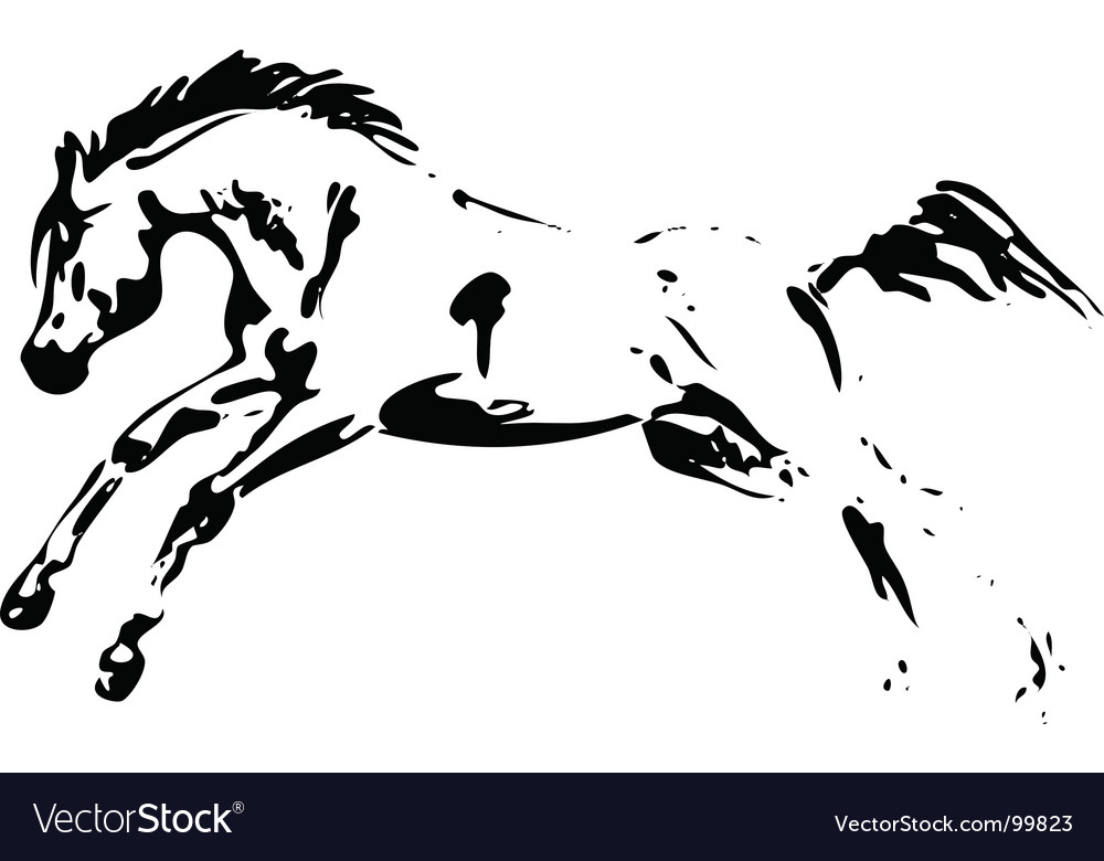 Horse jumping vector