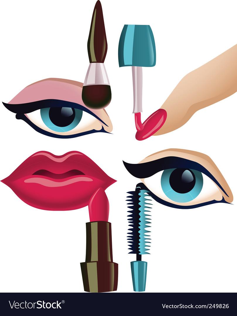 Makeup set vector