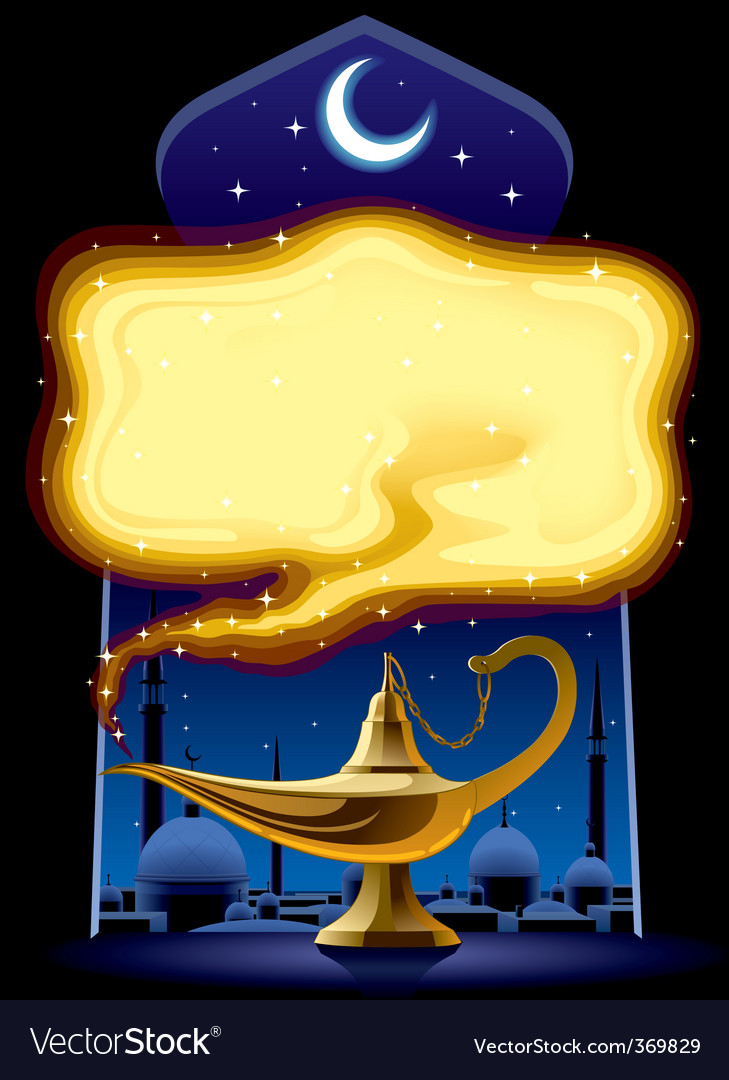 Aladdins lamp vector