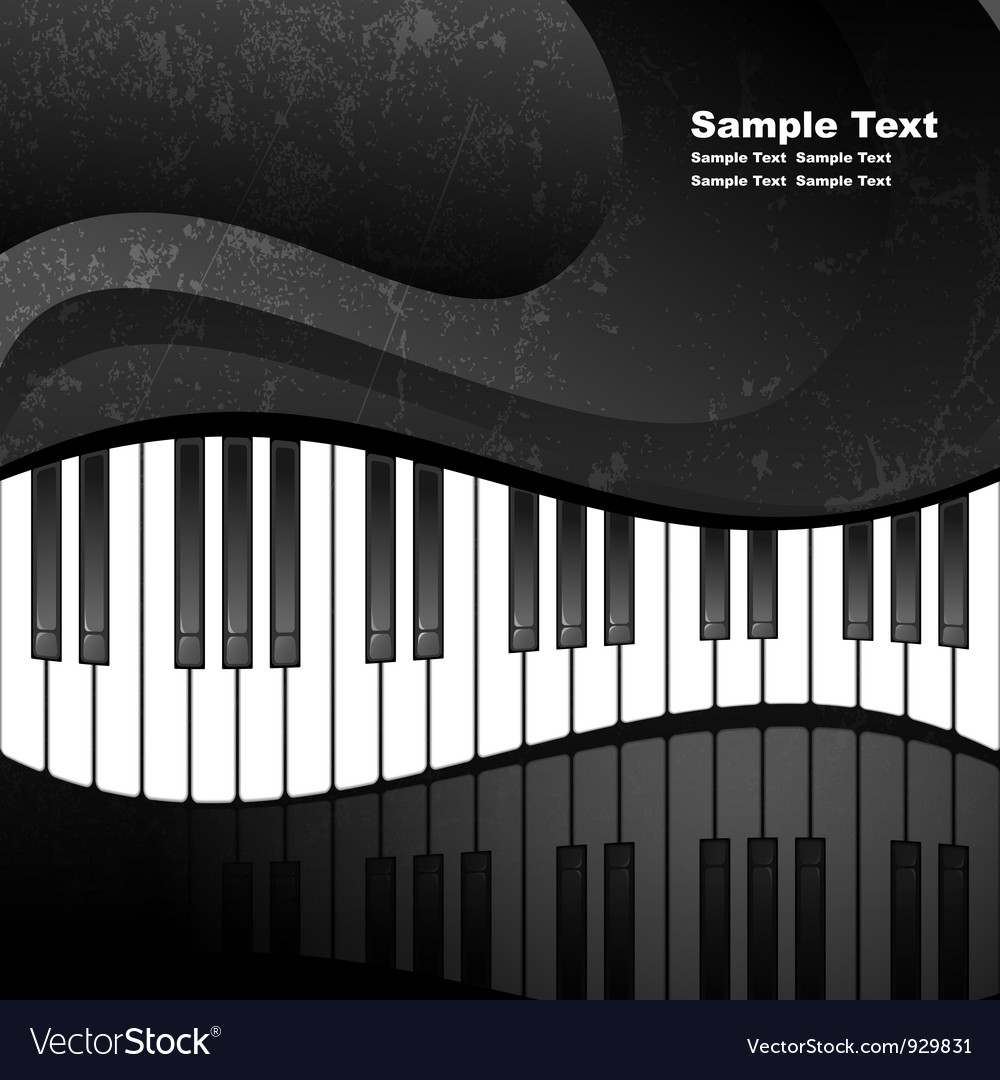 Grunge abstract background with piano keys vector