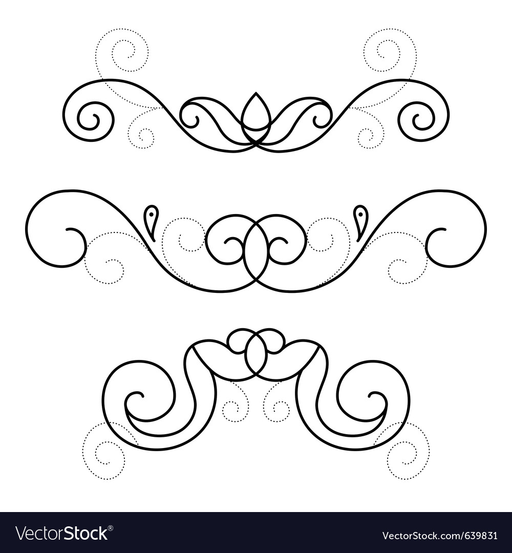 Set of decorative ornament vector