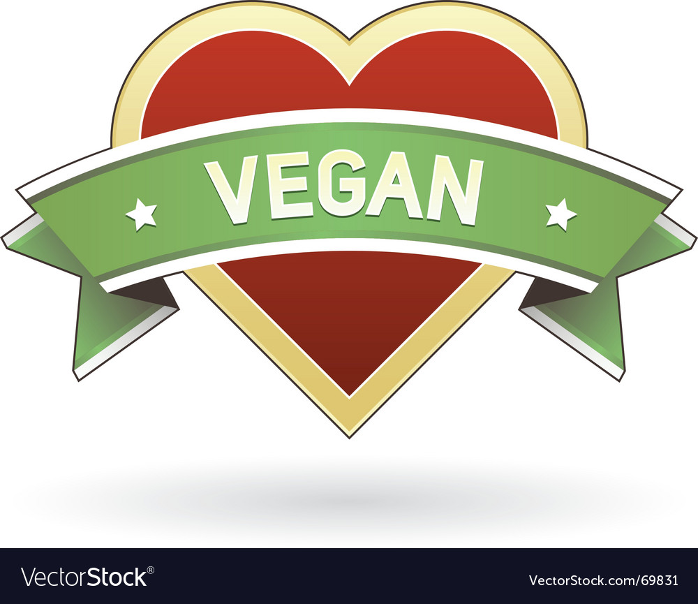 Vegan food and product label vector