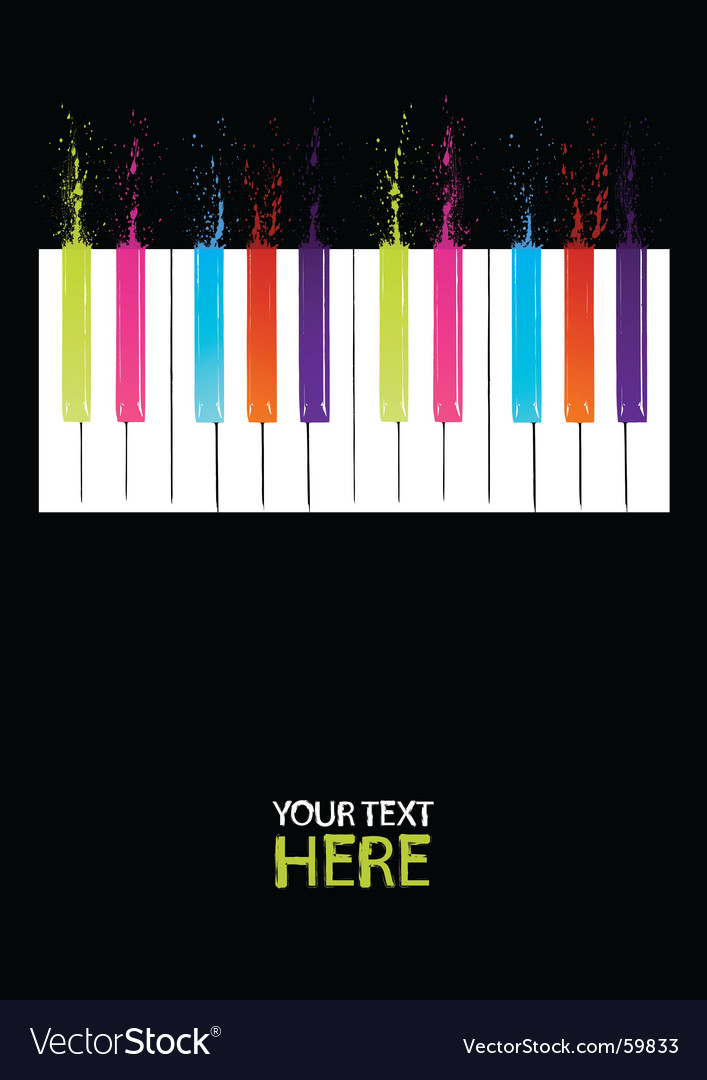 Spectrum piano keys vector