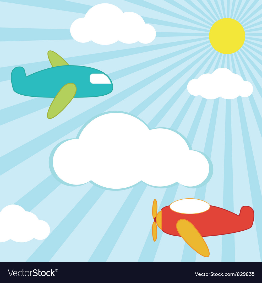 Planes background vector