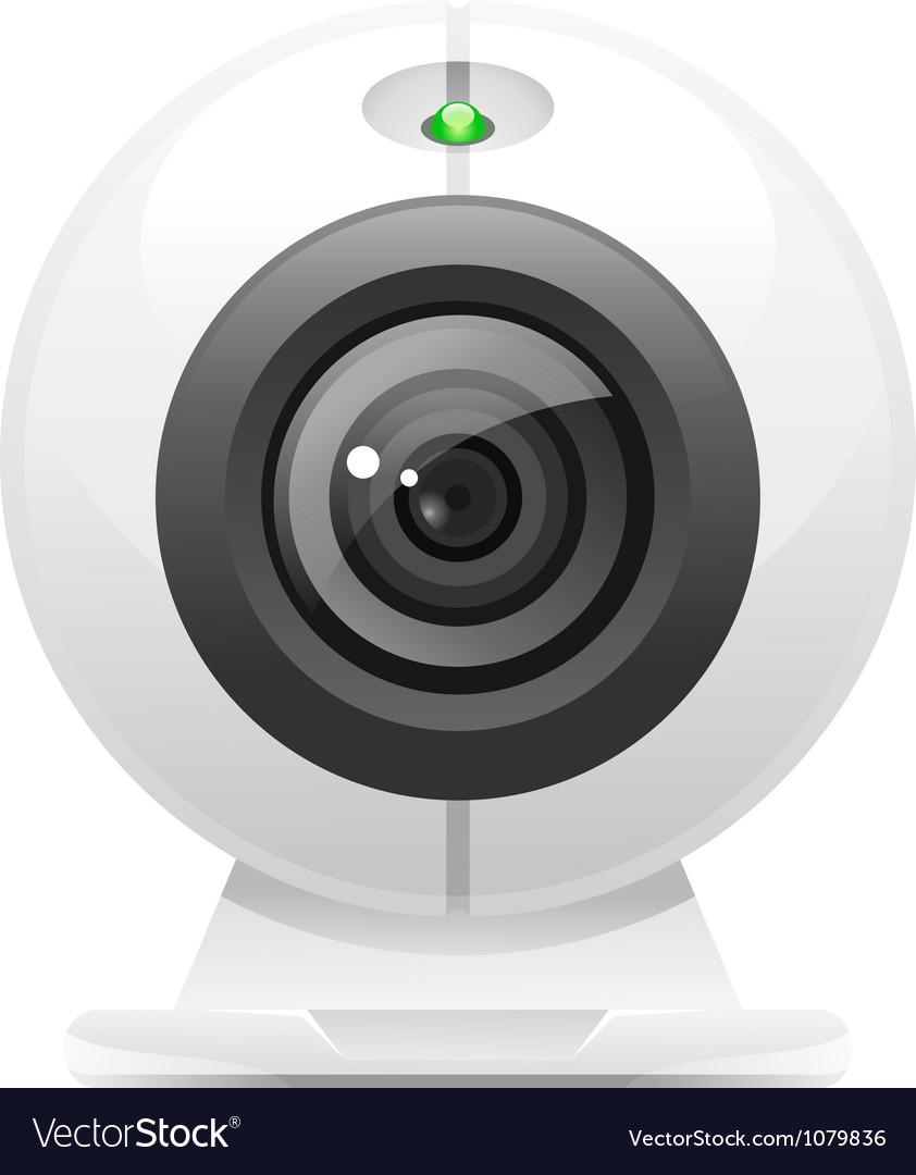 Web camera icon vector
