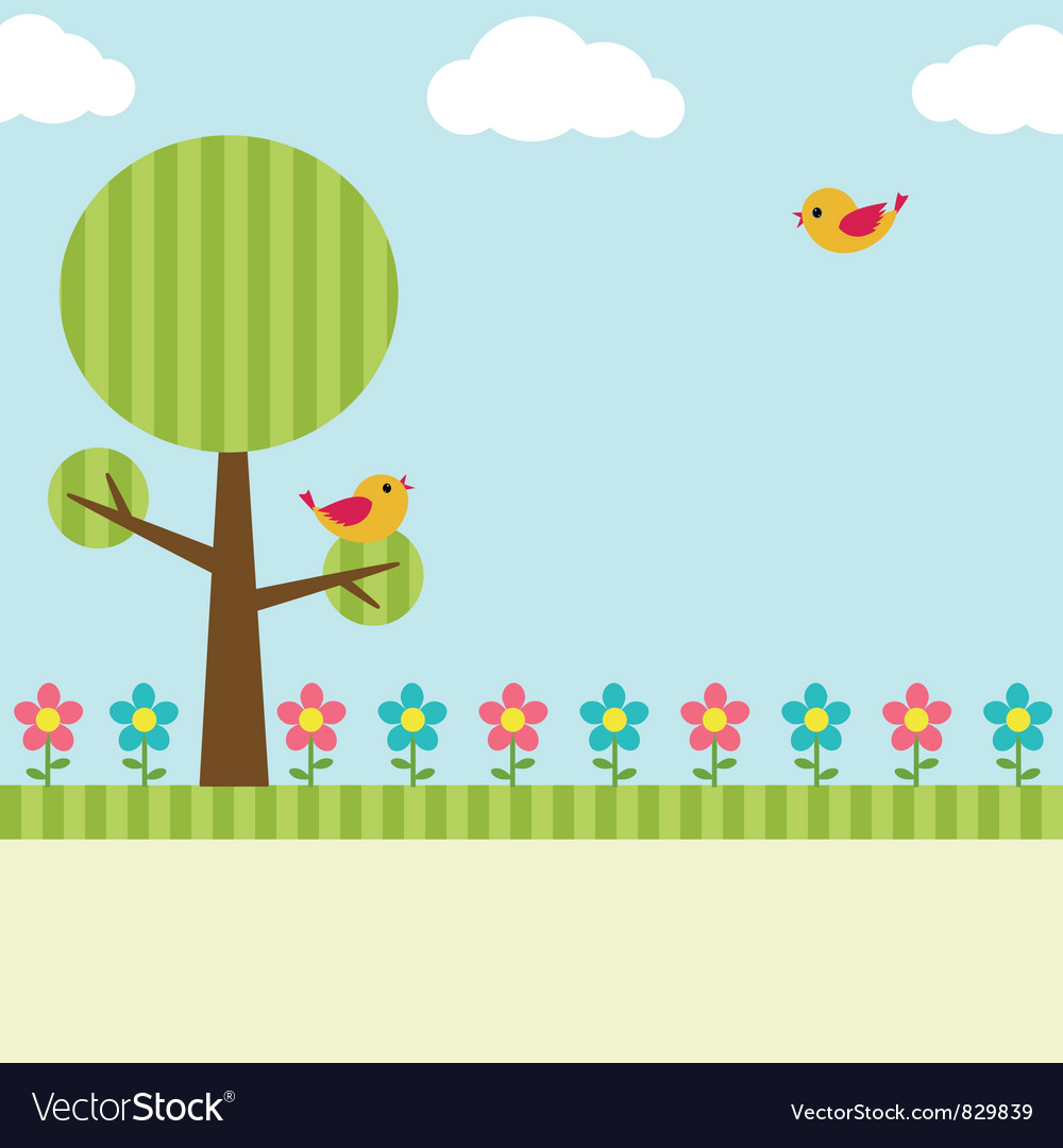 Tree background vector