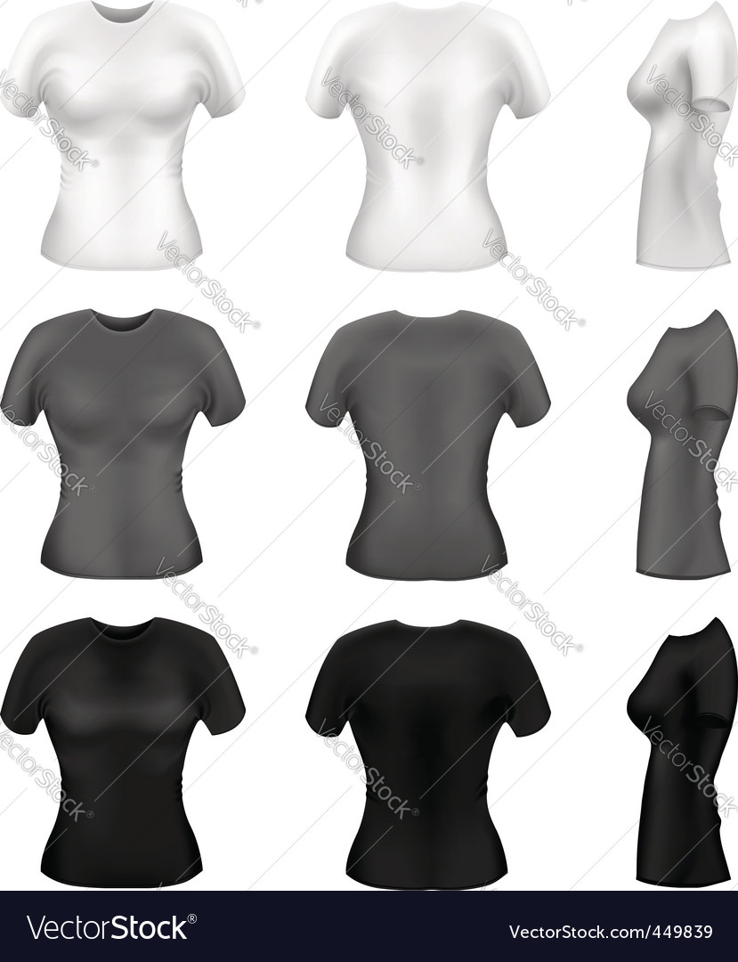 Women's t-shirts  vector