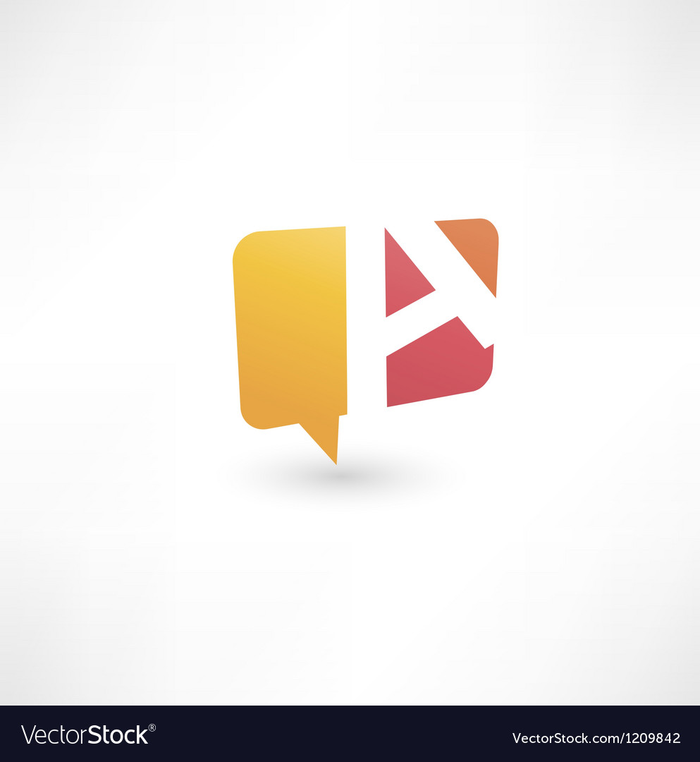 Abstract bubble icon based on the letter a vector