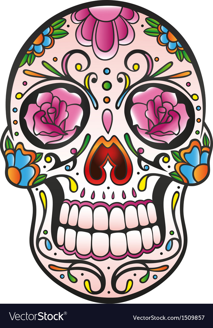 Mexican sugar skull vector