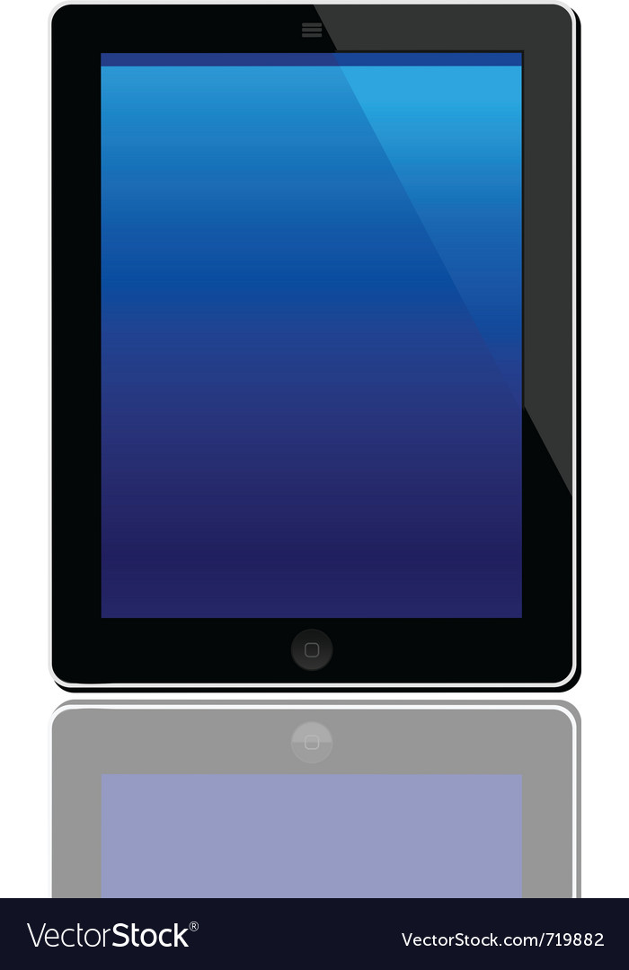 Computer tablet vector