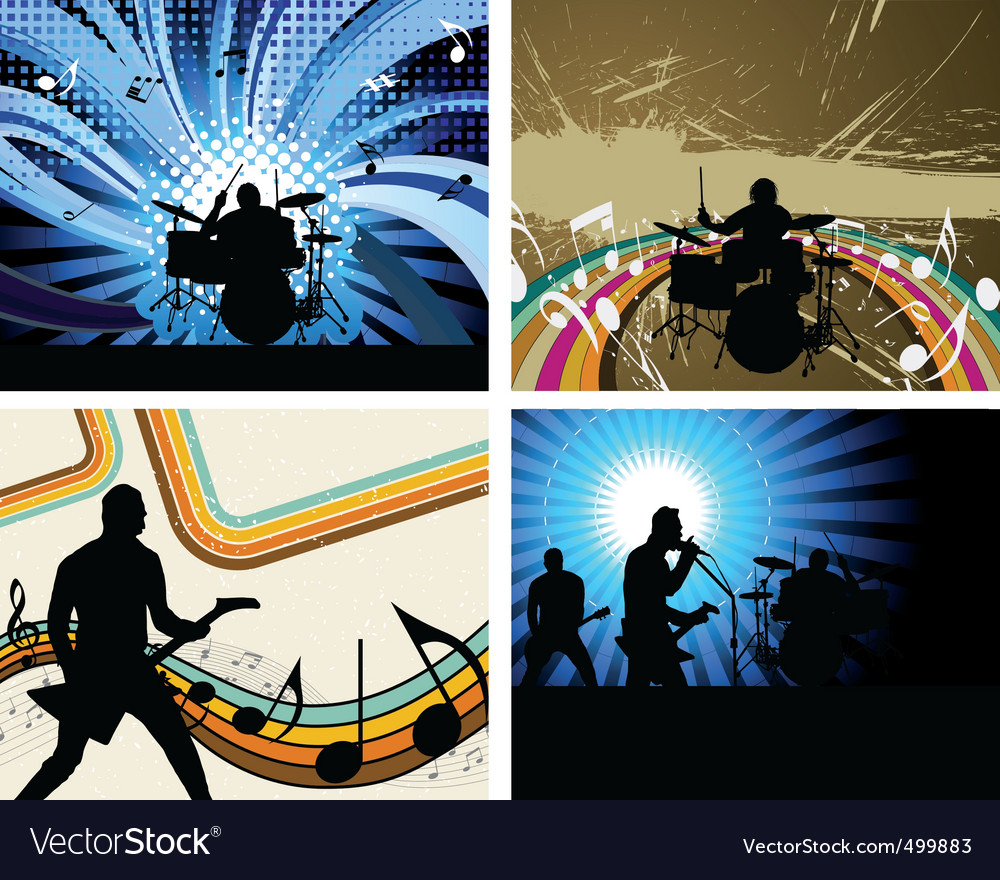 Rock group vector