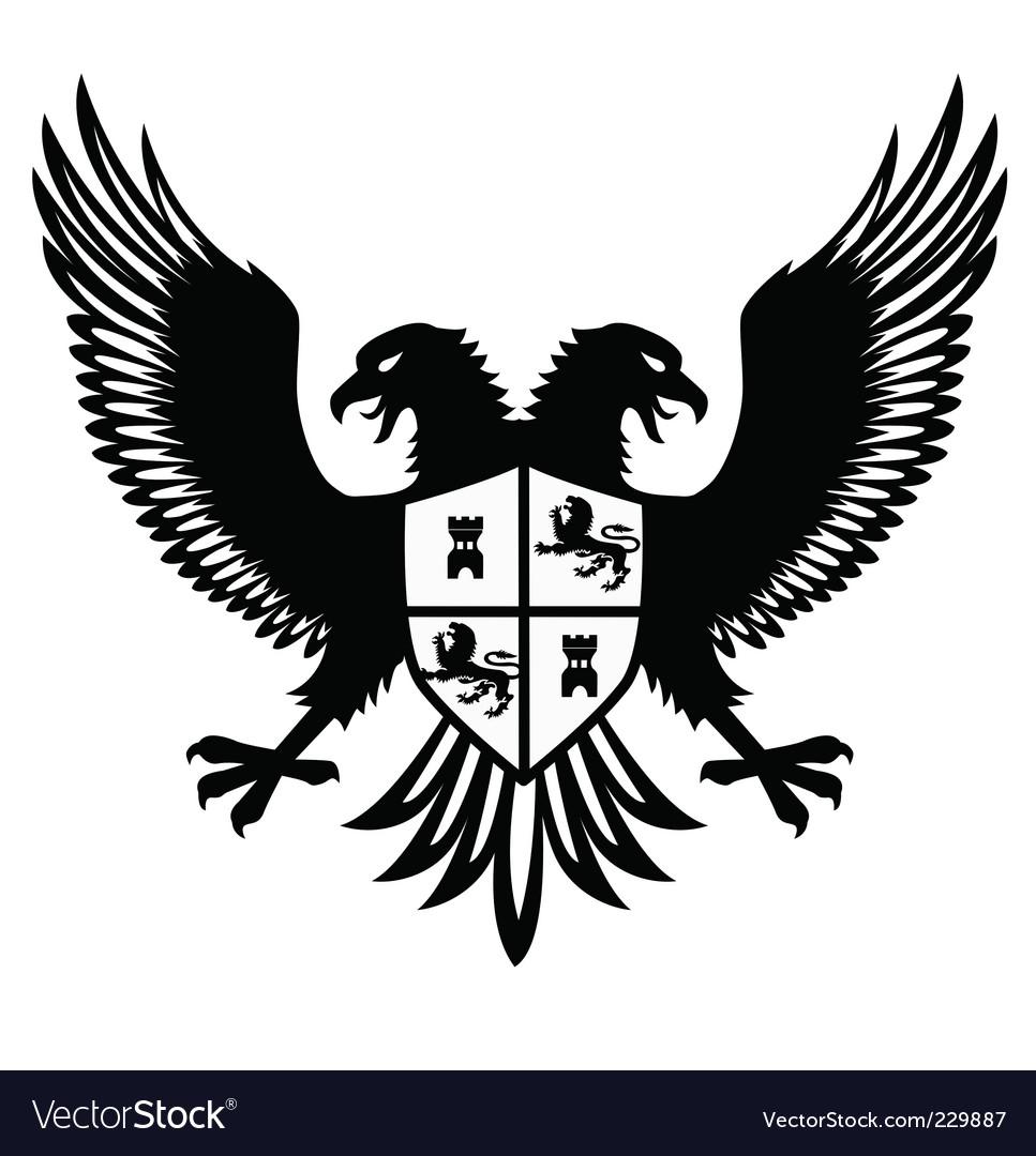 Heraldic bird vector