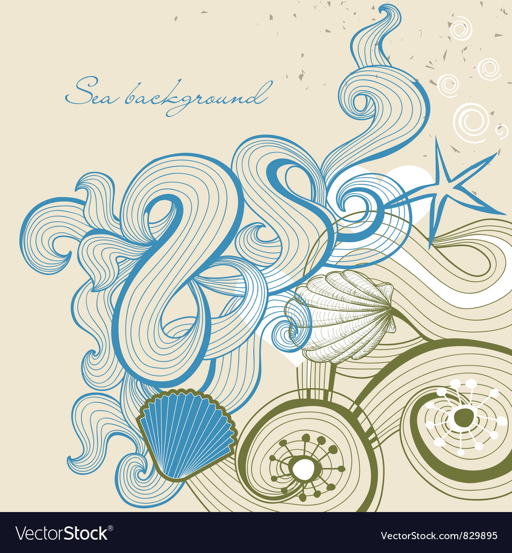 Sea and beach background vector