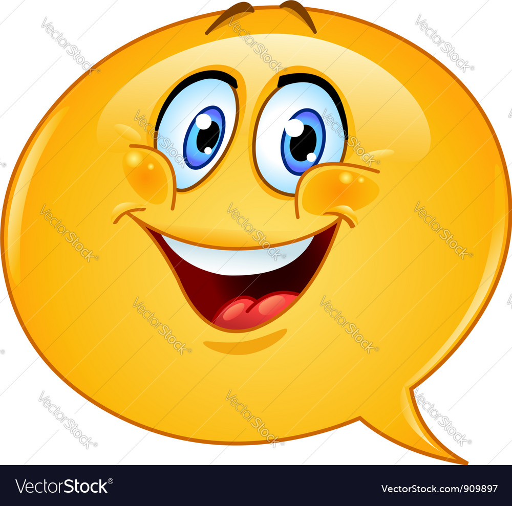 Speech bubble emoticon vector