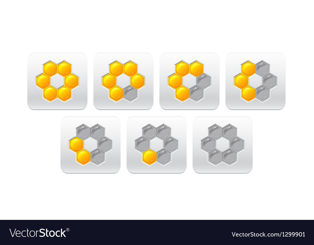 Progress bar with honeycomb vector