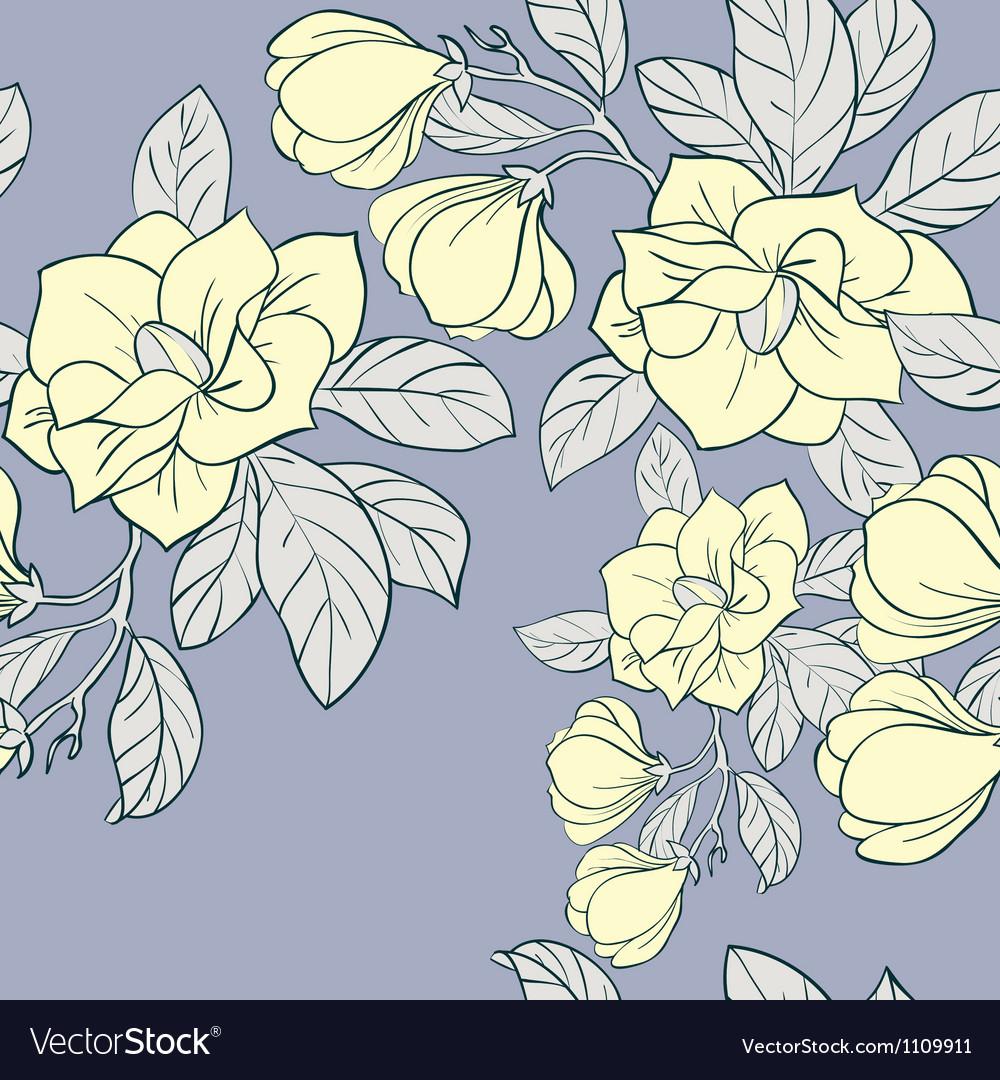 Jasmine floral seamless pattern vector