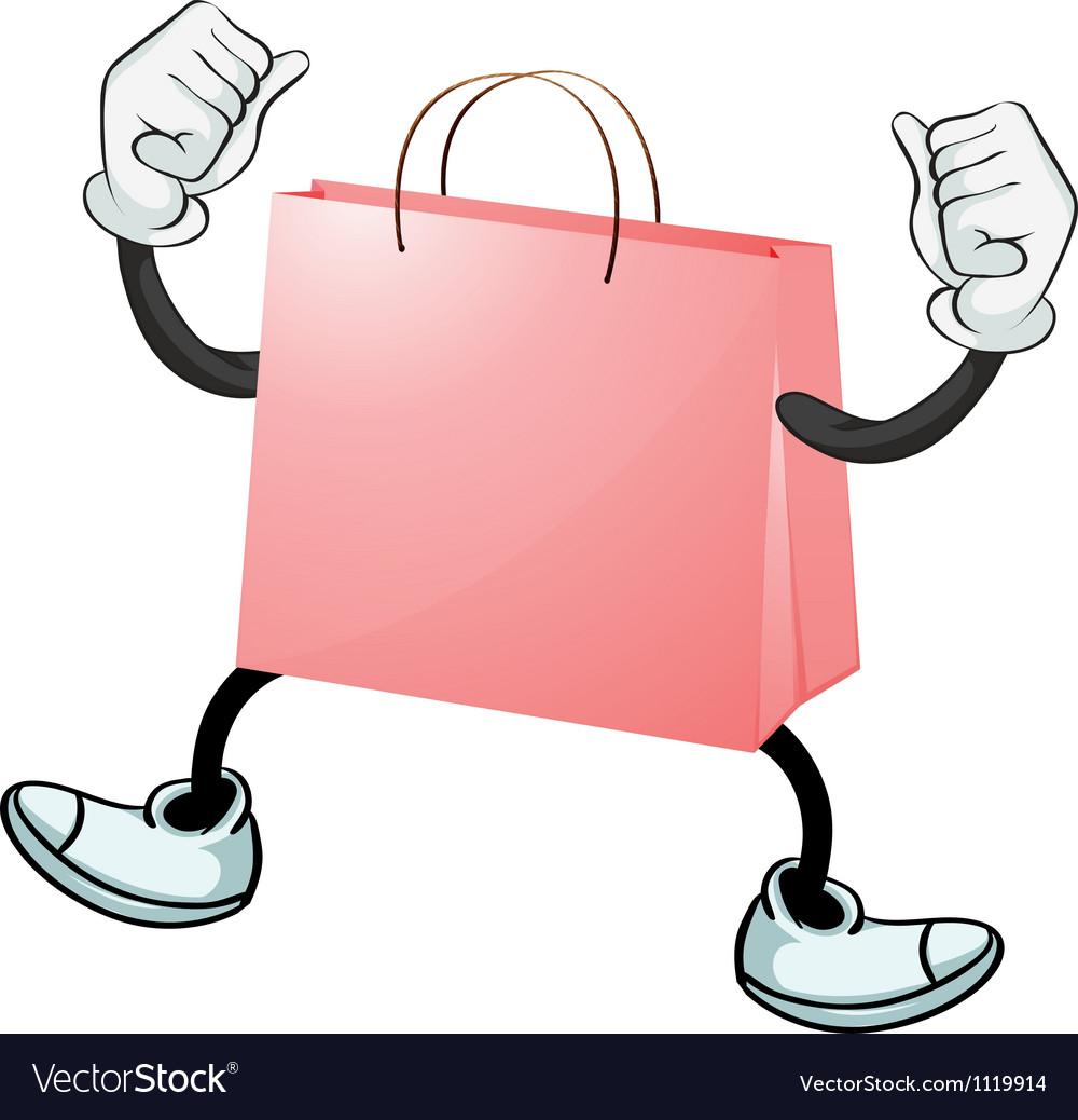 A pink bag vector