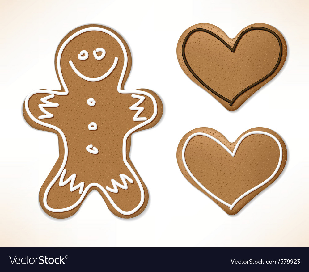 Christmas gingerbreads vector