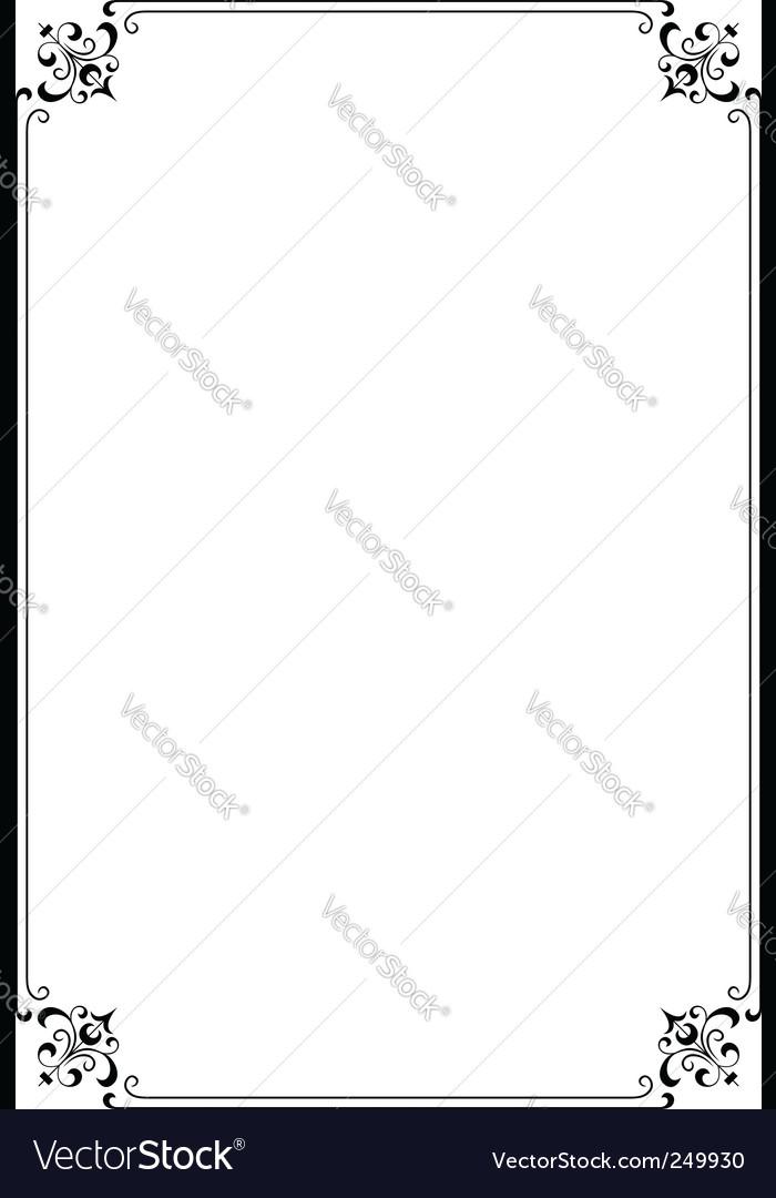 Elegant frame vector by barbulat - Image #249930 - VectorStock