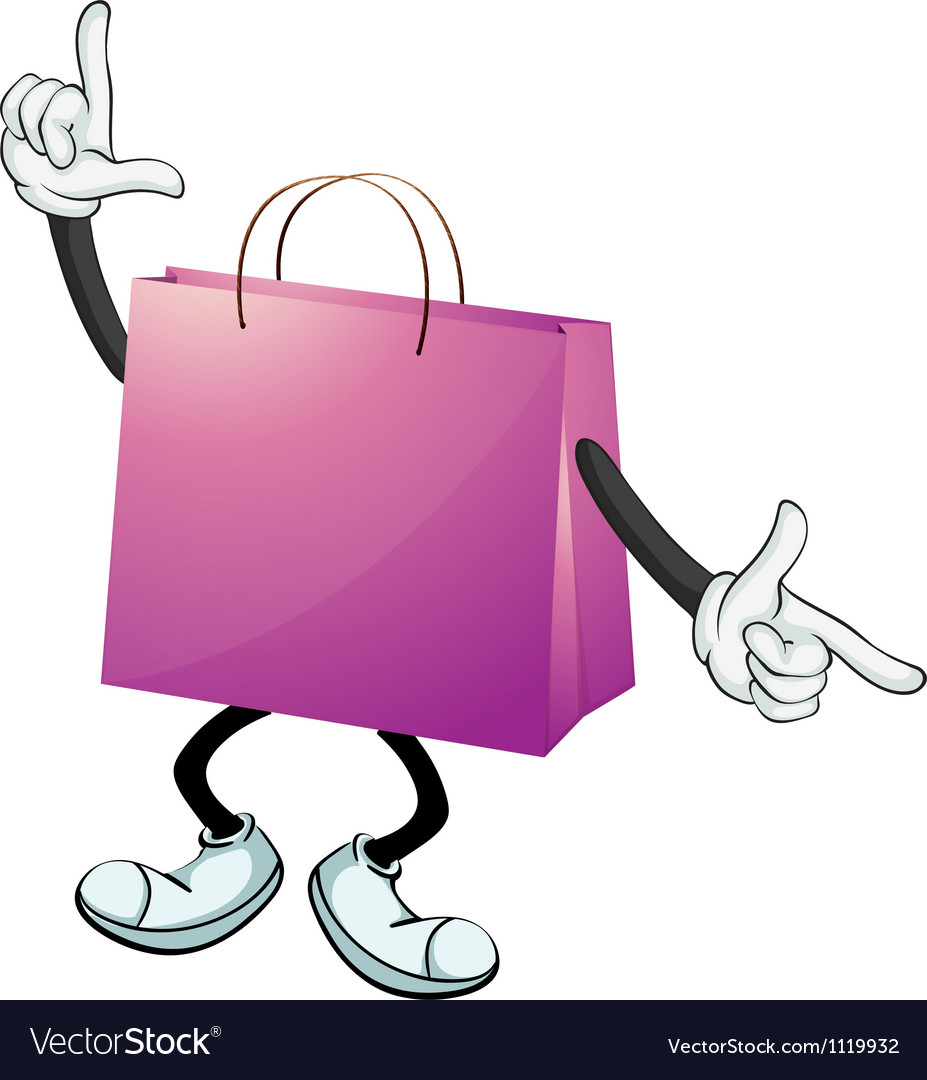 A purple bag vector