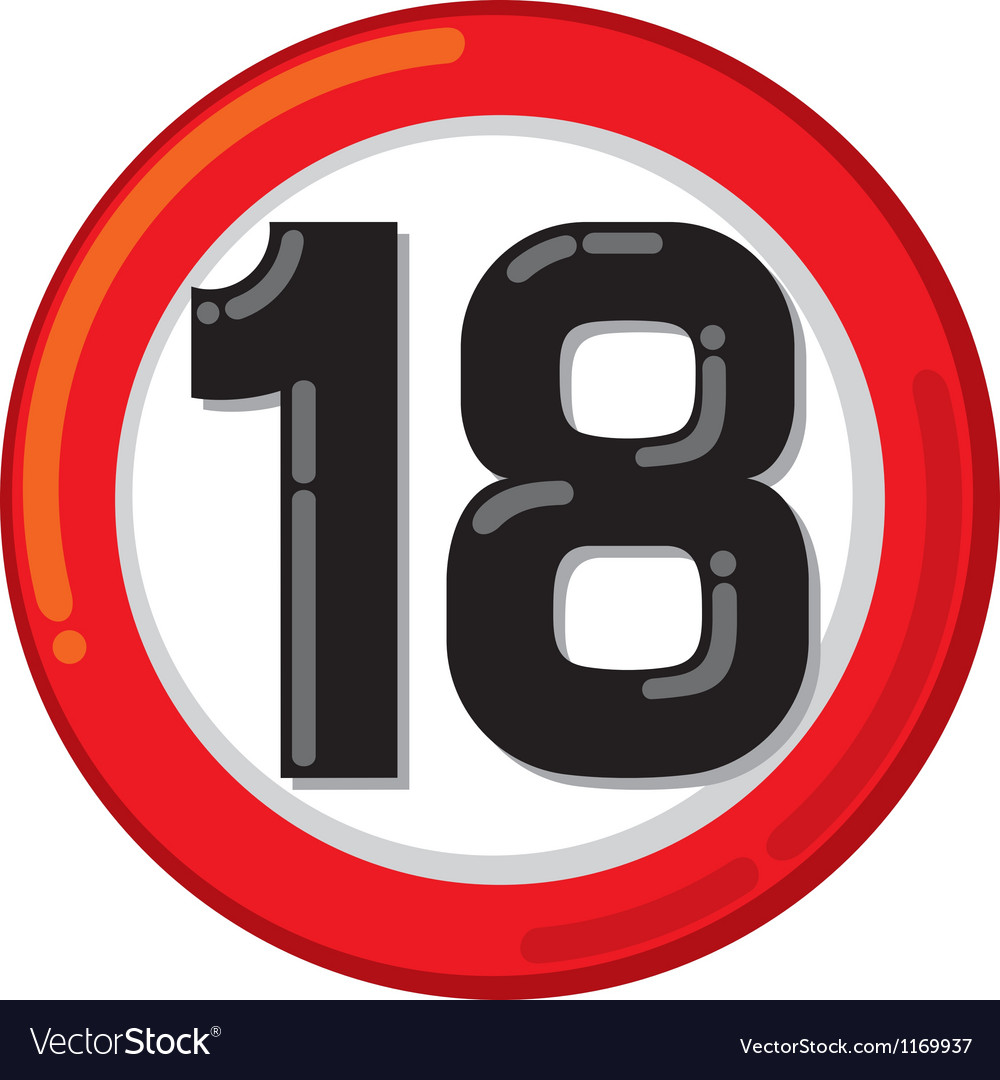 Under eighteen sign vector