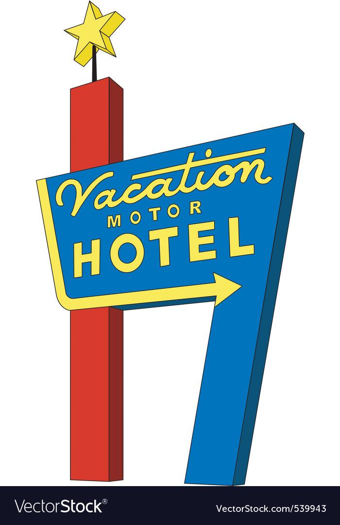 Motel sign vector