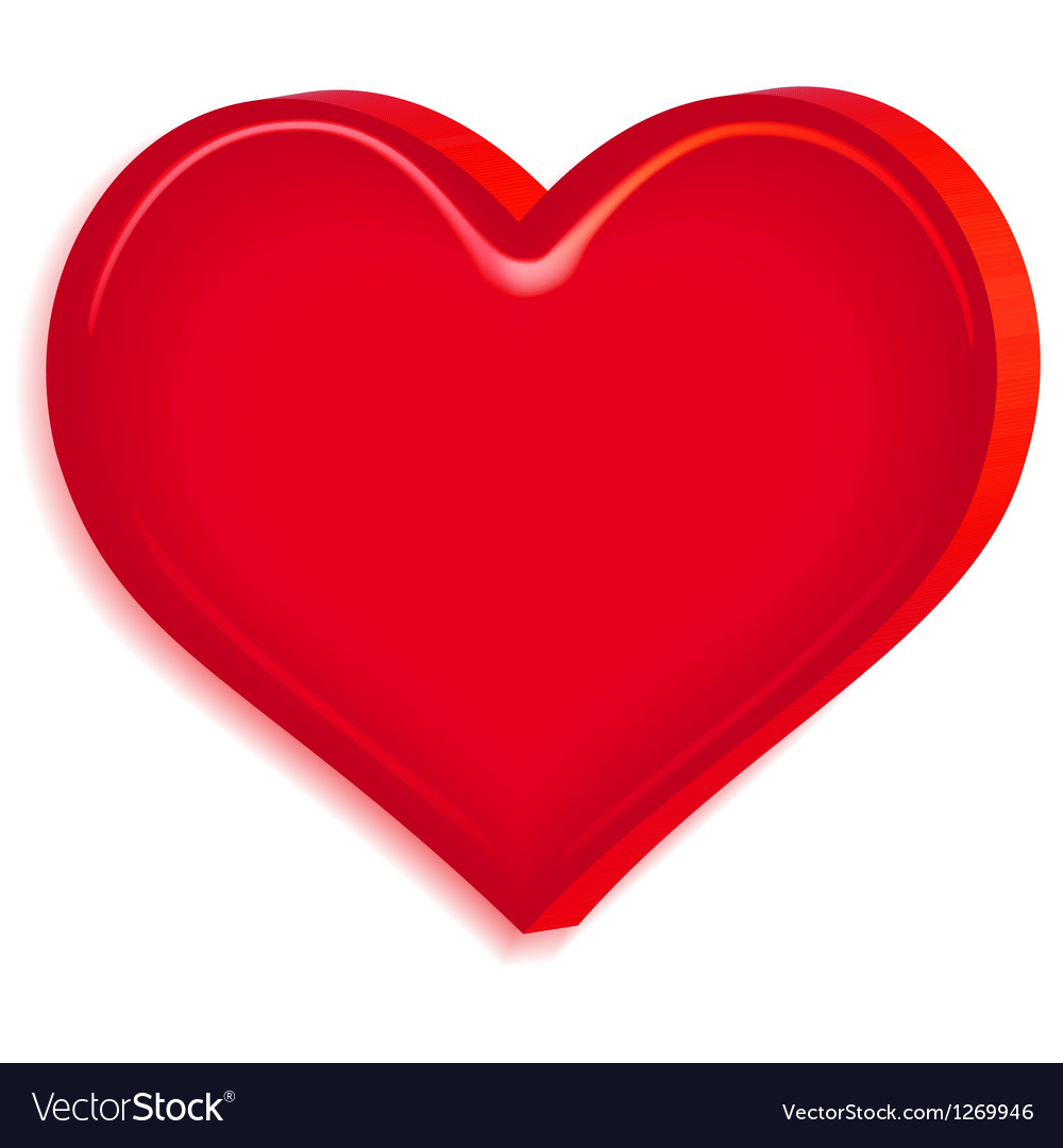 Relief heart vector
