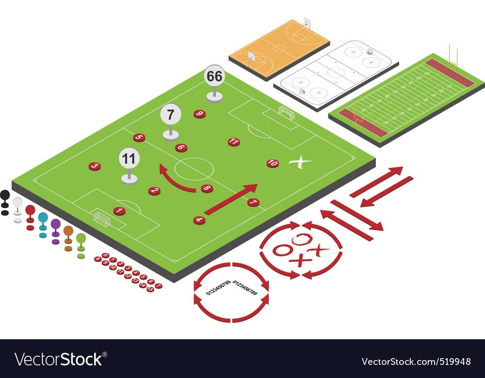 Sport schemes vector