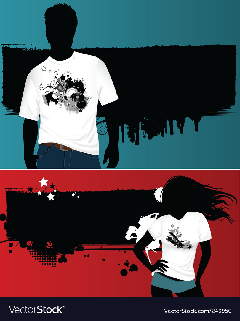 Grunge t-shirt design vector