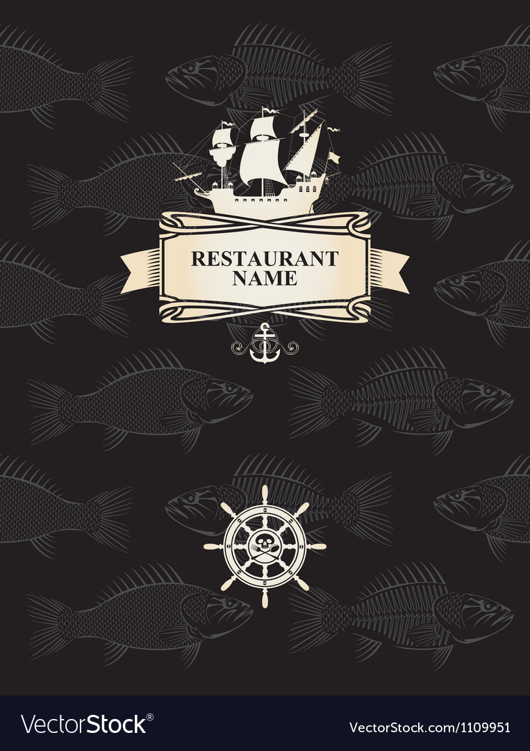 Menu with a pirate vector