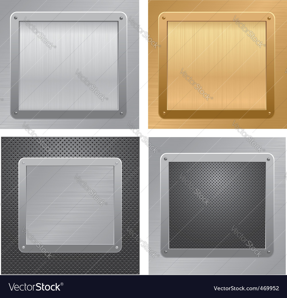Metallic plaque backgrounds vector