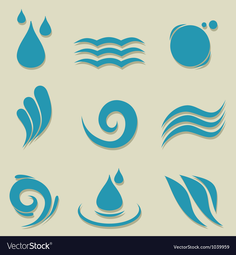 Water an icon vector