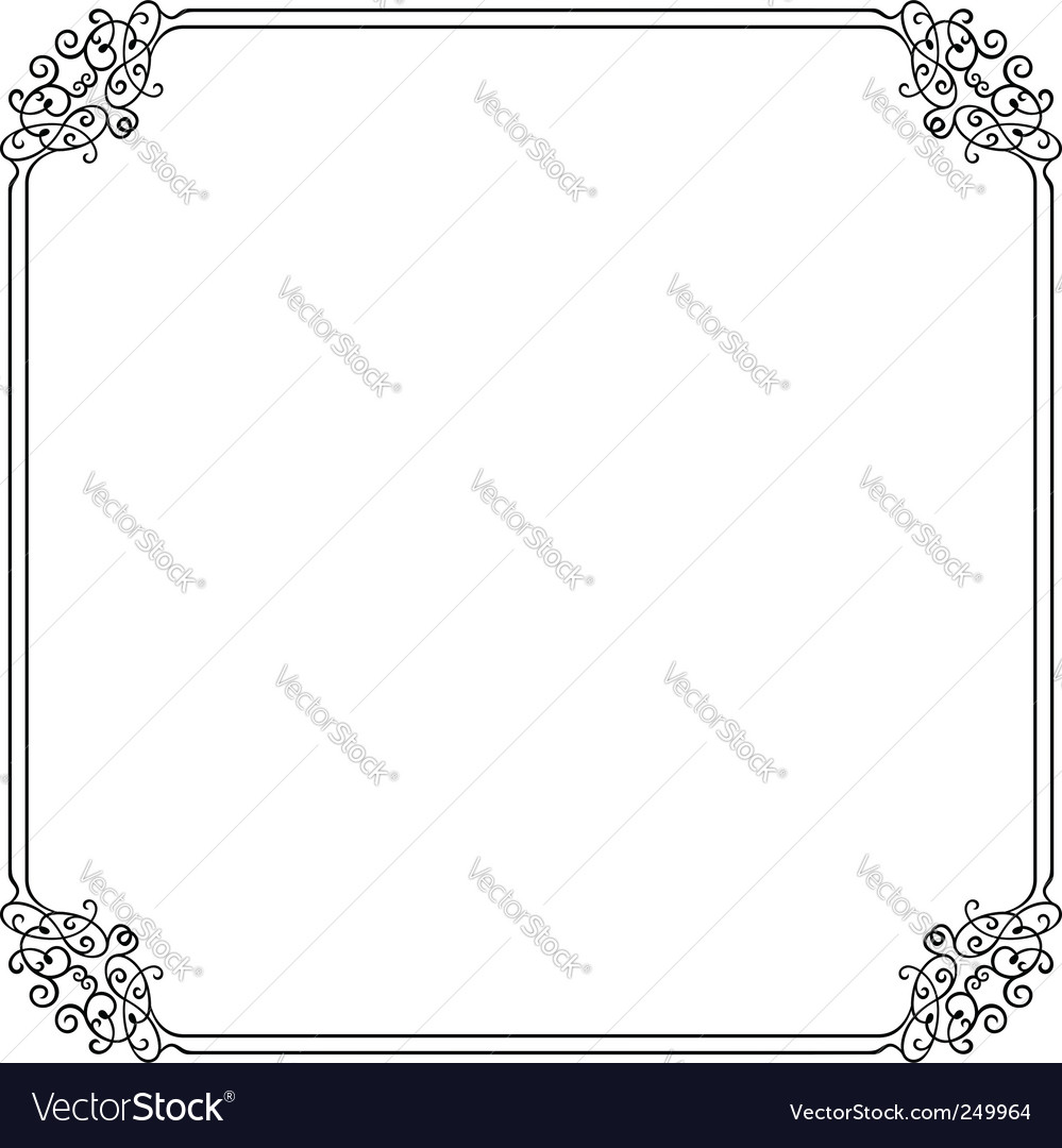 Elegant frame vector by barbulat - Image #249964 - VectorStock