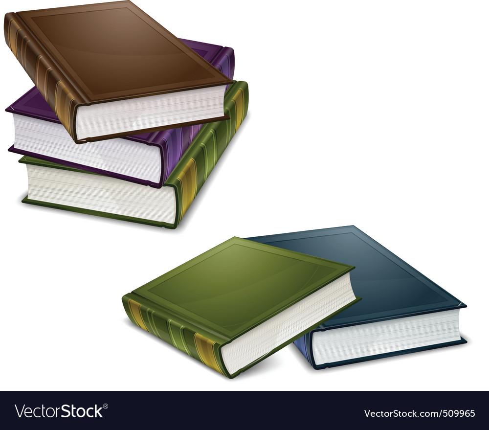 Close color books vector