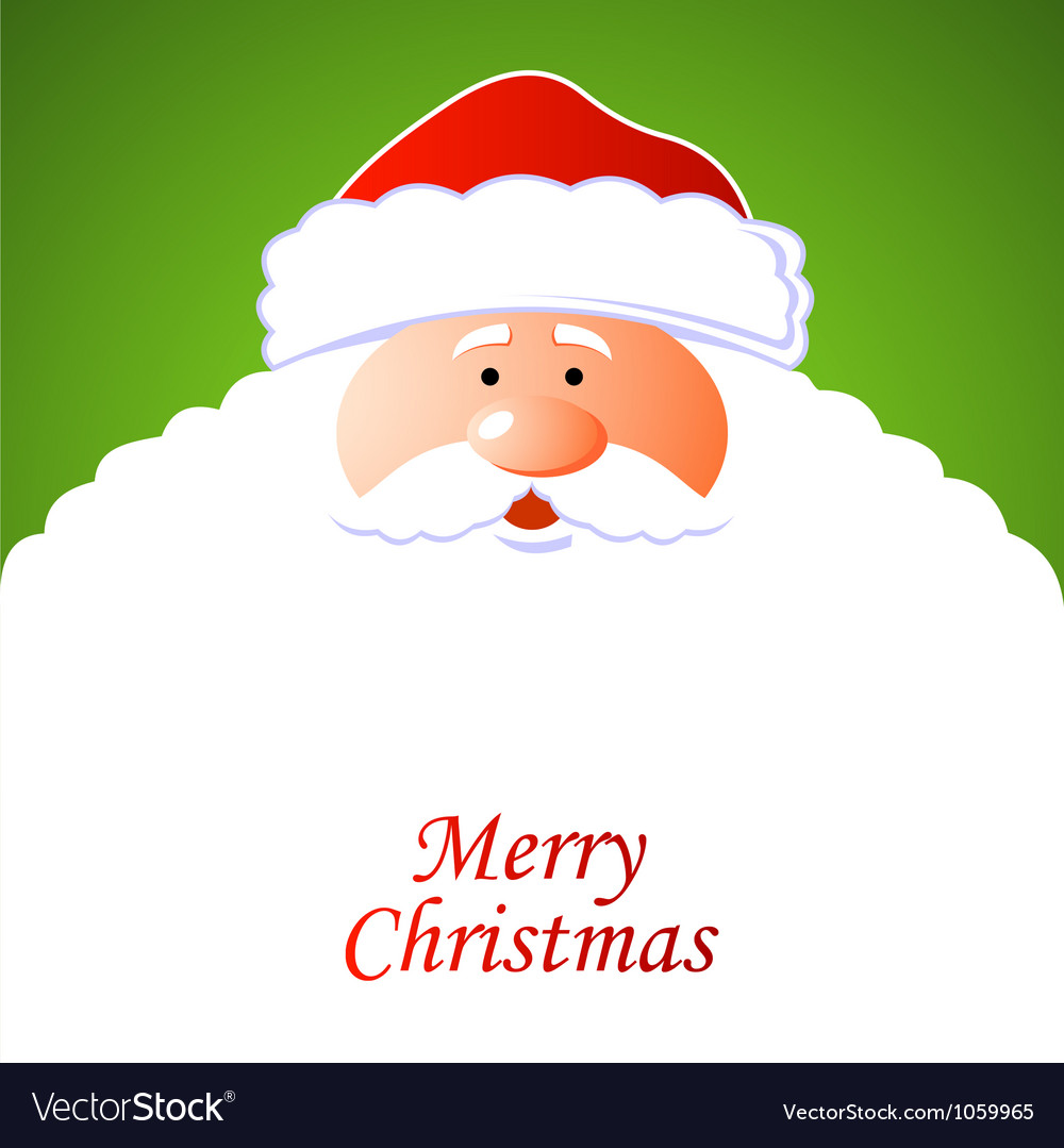Happy santa claus vector