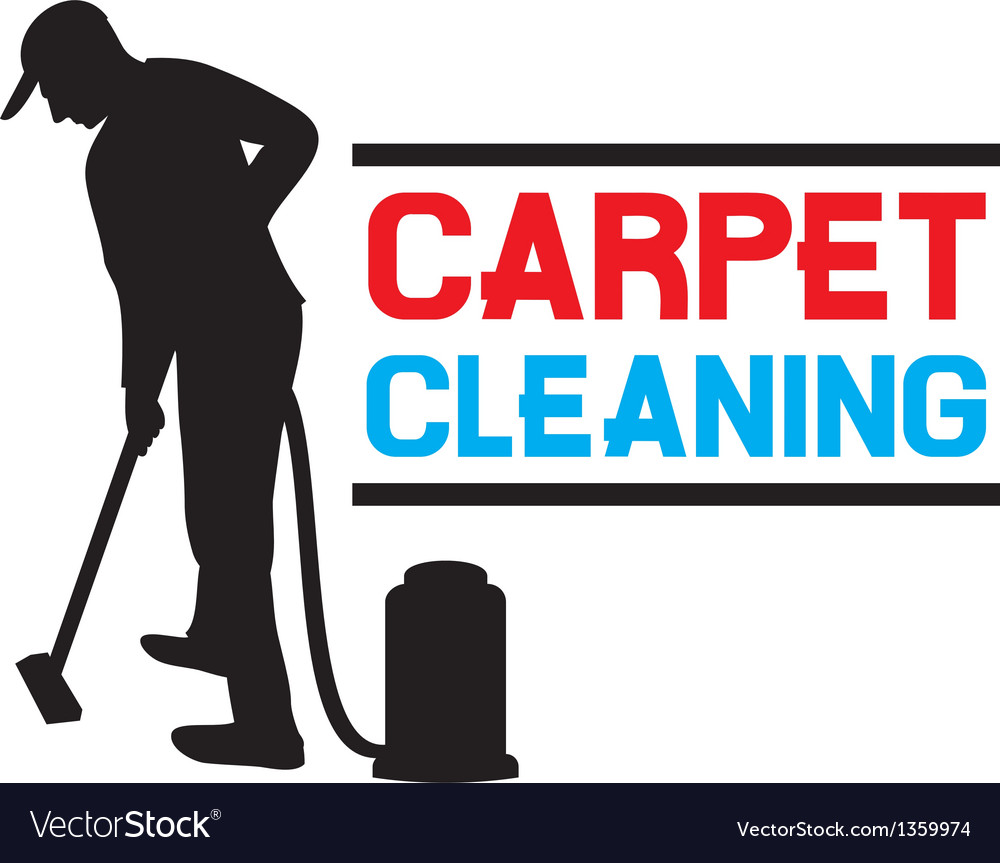 Carpet cleaning service vector