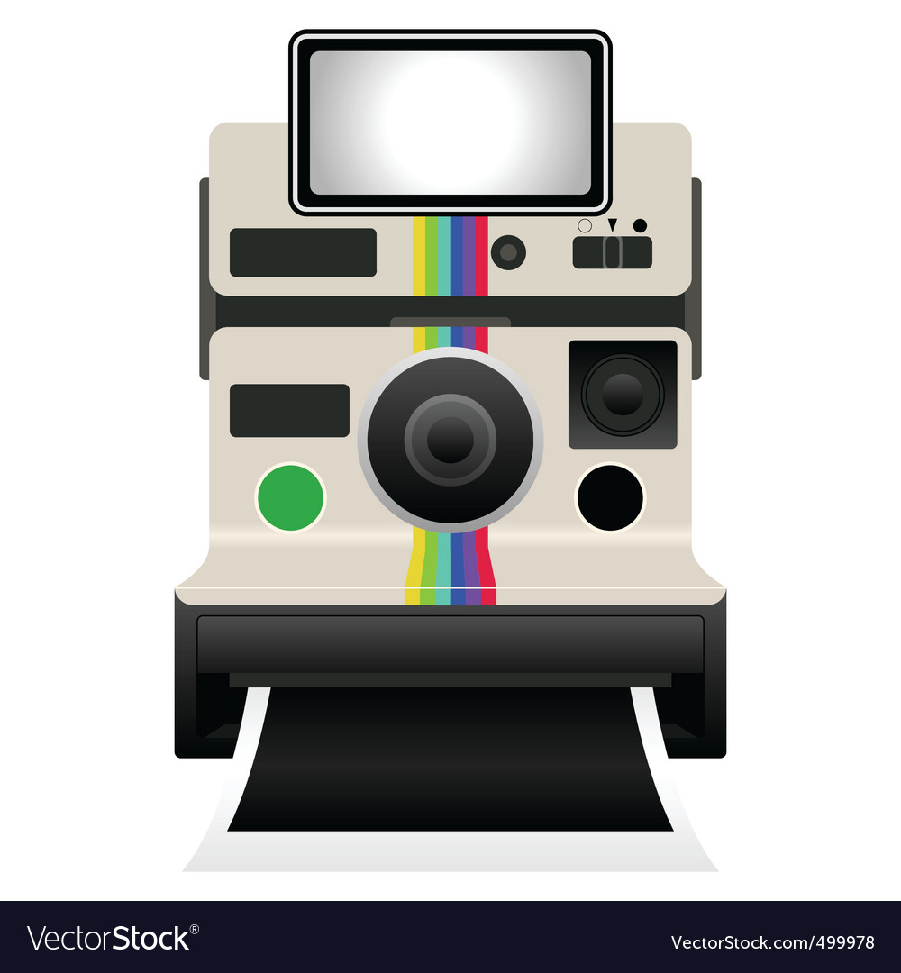 Polaroid camera vector