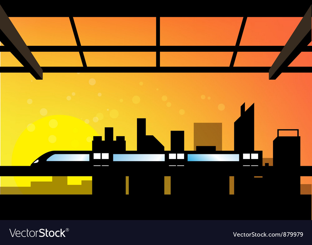 Scene of cityscape vector