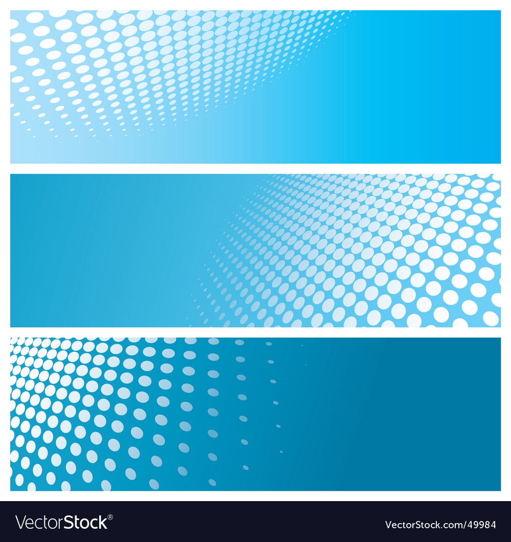Halftone banners vector