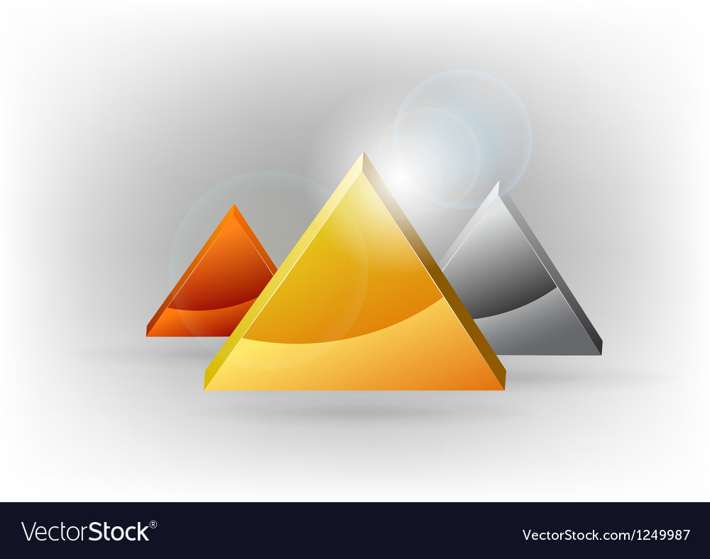 Three triangles vector