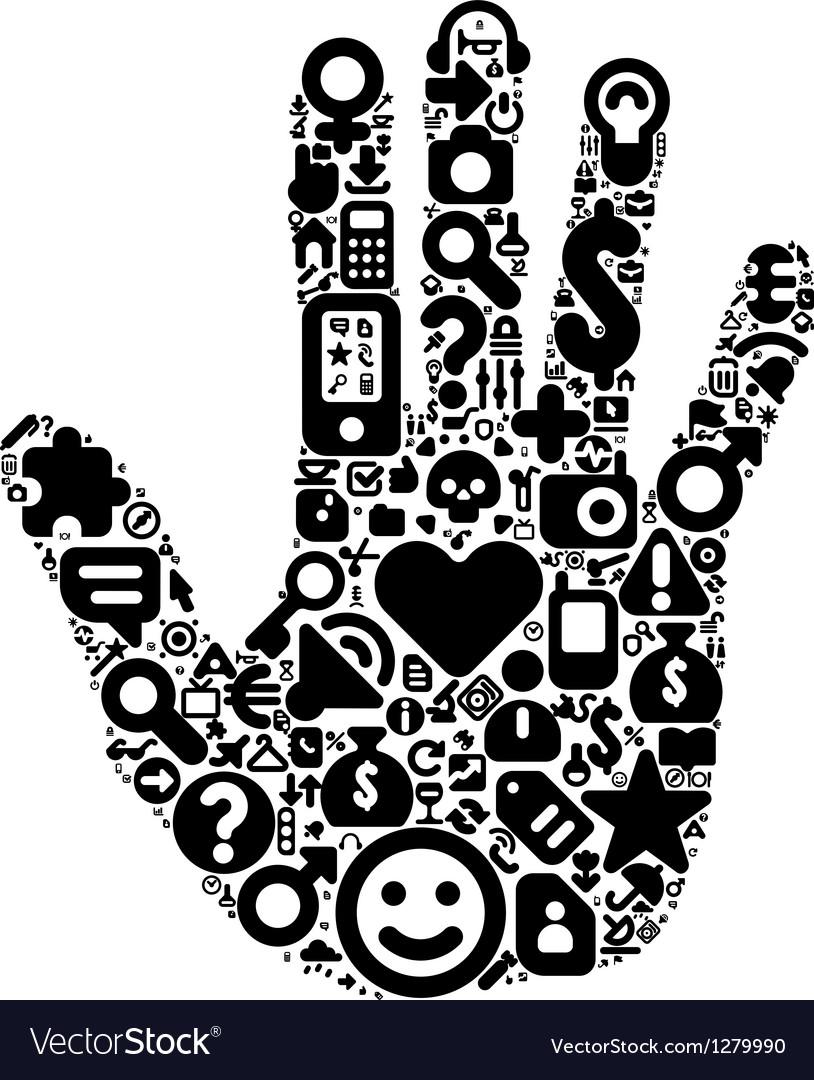 Human hand concept vector